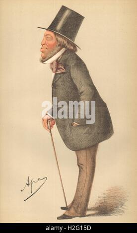 SPY CARTOON. Baron Mayer Amschel de Rothschild 'The winner of the race'. 1871 - Stock Photo