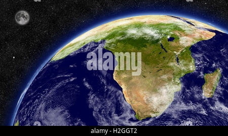 South Africa on planet Earth - Stock Photo