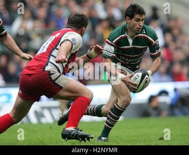 Gloucester Rugby vs Leicester Tigers - Guinness Premiership Final at Twickenham Stadium - 12/05/07 - Stock Photo