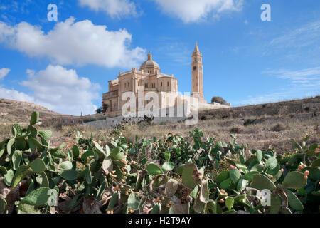 Basilica Ta Pinu, Gharb, Gozo, Malta - Stock Photo