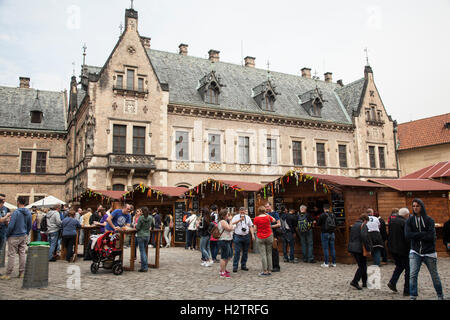 New Provost lodging and stalls at Prague Castle. - Stock Photo