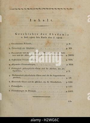 Denkschriften der Königlichen Akademie der Wissenschaften zu München BHL113 - Stock Photo