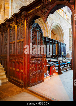 Rood screen in Cartmel Priory, near Grange Over Sands, Cumbria - Stock Photo