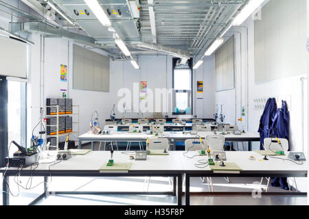 Interior view of the GMSE UTC (Greater Manchester Sustainable Engineering University Technical College) Oldham, - Stock Photo