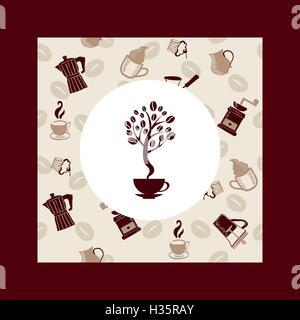 Coffee beans tree - Illustration - Stock Photo