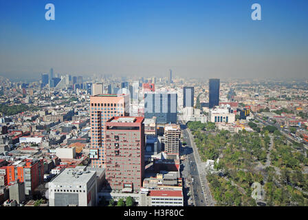 Panorama of Mexico City DF, the Capital - Stock Photo