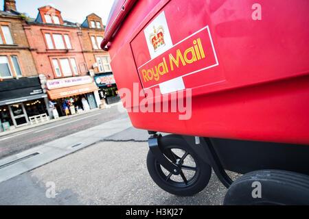 Royal Mail Post Office Trolley London England United Kingdom - Stock Photo