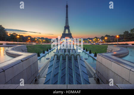 Paris, France. Image of Paris at sunrise with the Eiffel Tower. - Stock Photo