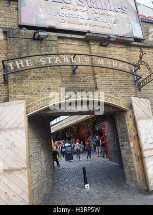 The stable market entrance to Camden Market, London, UK. - Stock Photo