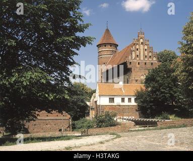 Poland, Masuria, Olsztyn, Allenstein, town, order castle, detail, Europe, Rzeczpospolita Polska, north-east Pole, - Stock Photo