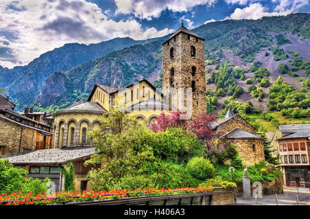 Sant Esteve church in Andorra la Vella, Andorra - Stock Photo