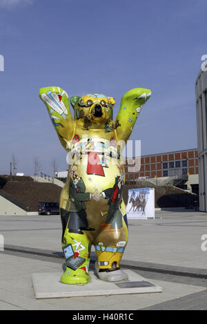 Germany, Berlin, exhibition site, Buddy Bär # 019, Europe, town, capital, international Congress centrum, ICC, detail, - Stock Photo