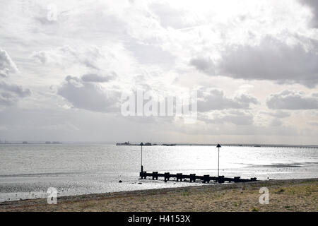 Southend-on-Sea with pier in the background, Essex UK - Stock Photo