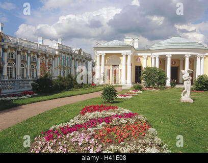 Russia, close Saint Petersburg, Pushkin, Katharinenpalast, Katharinenpark, agate pavilion Eurasia, Europe, East, - Stock Photo