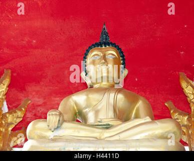 Thailand, island Phuket, Nai Harn Beach, Buddha's statue, - Stock Photo