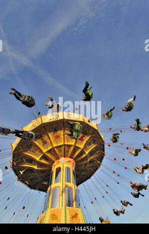 Catena carousel, public festival, - Stock Photo
