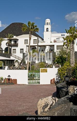 Spain, Canary islands, Lanzarote, Playa Blanca, town view, grain Melia Volcan, - Stock Photo