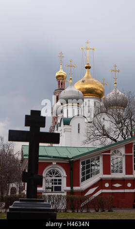 Moscow, Novodevichy Convent, Smolensk Cathedral, - Stock Photo