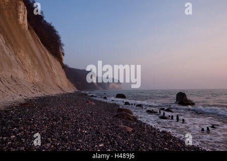 The Baltic Sea, National Park Jasmund, chalk rocks, - Stock Photo