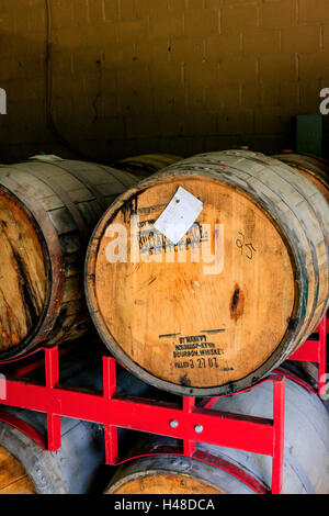The Barrel House Distilling co on the Kentucky Bourbon Trail, Manchester St in the Distillery District of Lexington, - Stock Photo