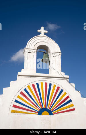 Greece, the Cyclades, Mykonos, Ano Mera, band in the southern edge town, - Stock Photo