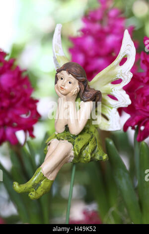 Elf, elfin figure, decoration, figure, fairy tale, legend, - Stock Photo