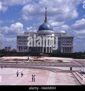 Kazakhstan, Astana, Ak Orda presidential palace, outside, presidential palace, palace, space, person, tourist, dome, - Stock Photo