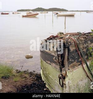 Denmark, island Samsö, Stavns fjord, the Baltic Sea, harbour, boat, old, - Stock Photo