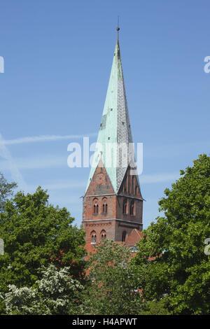 Germany, Schleswig-Holstein, Lübeck, Saint Aegidien church, - Stock Photo