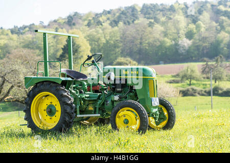 Breuberg, Hesse, Germany, Bautz A FLAT 120, year of manufacture 1954, total weight 1600, cubic capacity 1249 cubic - Stock Photo