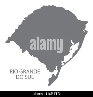 Rio Grande do sul Brazil map in grey. - Stock Photo