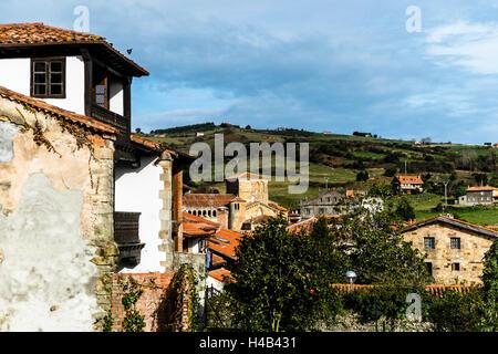 Collegiate Church of Santa Juliana in Santillana del Mar, Cantabria, Spain - Stock Photo