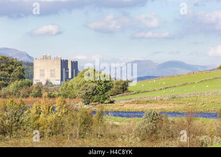 The decommissioned Trawsfynydd Nuclear Power Station, Snowdonia National Park,  Gwynedd, Wales. - Stock Photo