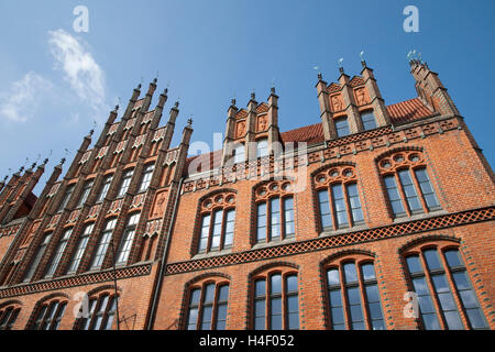 Old town hall, brick gothic, Hannover, Lower Saxony - Stock Photo