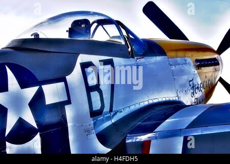 North American P-51D Mustang nicknamed Ferocious Frankie - Stock Photo
