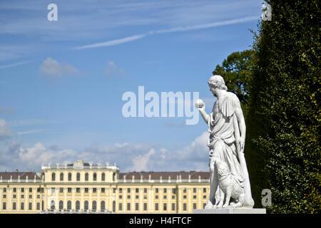 Sculpture at the Schönbrunn Palace garden. Vienna, Austria - Stock Photo