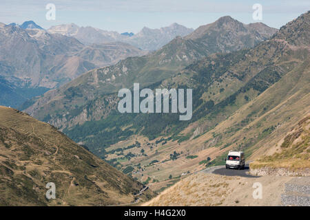 Col de Tourmalet in the  Hautes Pyrenees department of  France - Stock Photo