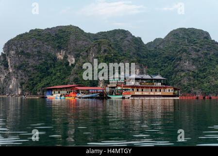 Pearl farm in Halong Bay - Stock Photo