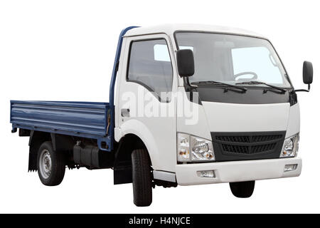 Compact car for transportation of goods isolated on white background. - Stock Photo