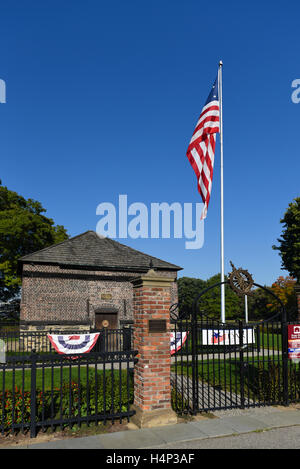USA Pittsburgh PA Pennsylvania Fort Pitt Blockhouse in Point State Park along the Three Rivers Heritage Trail at - Stock Photo