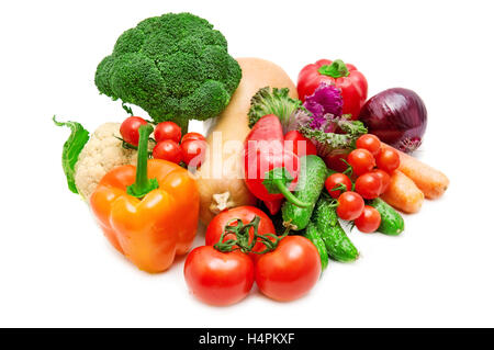 vegetable isolated on a white background - Stock Photo