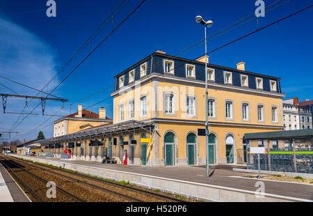 Station of Bourg-en-Bresse - France, Rhone-Alpes - Stock Photo