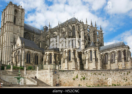 St Julien Cathedral Le Mans France - Stock Photo