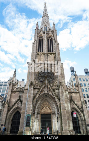 Front view of  landmarked Grace Church, gothic revival church at 800 Broadway, New York. - Stock Photo