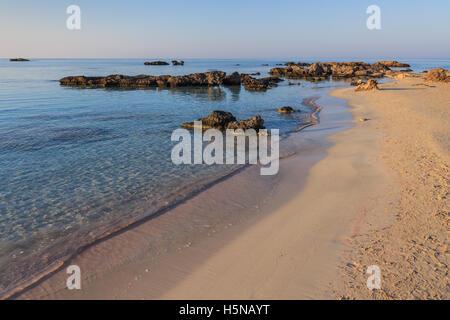 Elafonisi  beach. Crete, Greece - Stock Photo