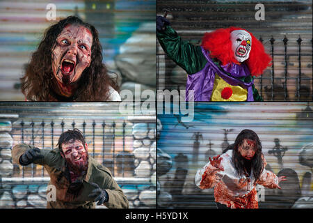 A killer clown with model release - Stock Photo