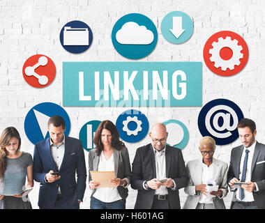 Linking Internet Connection Website Concept - Stock Photo