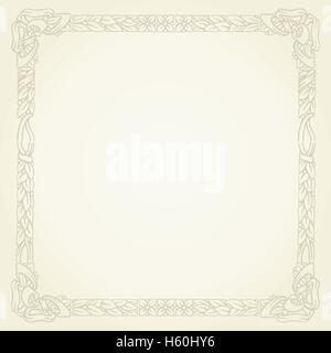 vintage gold floral typographic frame - Stock Photo