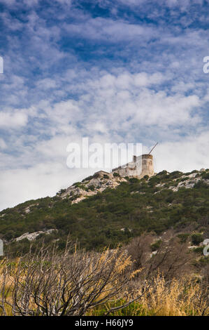 Sardinia cala moresca guglielmo marconi radio station - Stock Photo
