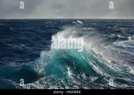 Sea wave in Atlantic ocean during storm - Stock Photo